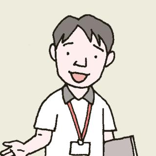 クレーム対応にあたる介護施設の相談員のイラスト