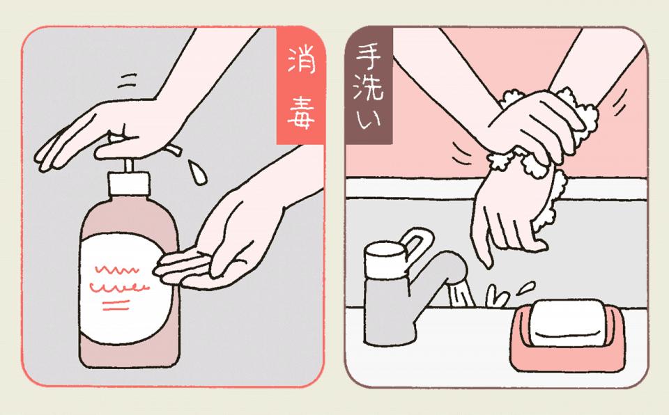 介護施設の職員の感染症予防、感染源になるのを防ぐポイント:手洗いと消毒を使い分ける