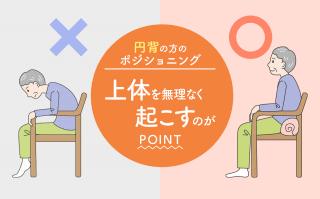 円背の方のポジショニング|背中が曲がる高齢者の介助方法