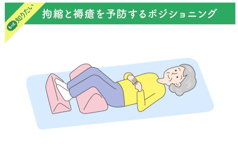 拘縮と褥瘡を予防するポジショニングのイラスト